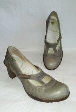 EL NATURALISTA Gray Leather Mary Jane Shoes Heels Women's Sz 41  US 10.5