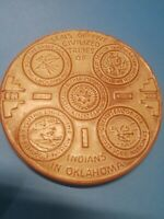 Frankoma OK3 Pottery Trivet Seals of the Five Civilized Tribes Indians Oklahoma