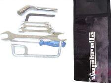 Lambretta Handy Tool Kit 7 Piece & Black Woven Pouch Jack Spanners Etc. CAD