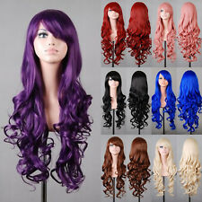 80cm Women Long Hair Full Wig Curly Wavy Party Fancy Dress Costume Cosplay Wigs
