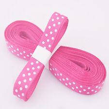 "5yds 3/8""(10 mm) Rose RedChristmas Ribbon Printed lovely dots Grosgrain Ribbon!"