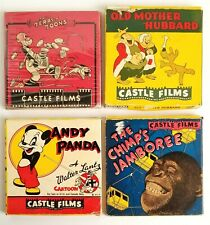 Lot of 4 Castle Films 8mm Movies 5 inch Reels Chimps, Andy Panda, Terry Toons