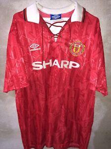 MANCHESTER UNITED 1992-1994 Sharp camiseta shirt trikot maillot maglia