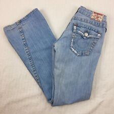 "True Religion ""Joey"" Sz 27 X 31 Bootcut Destroyed Jeans Womens Flap Pocket"