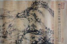"Rare Long Old Chinese Scroll Hand Painting Landscape ""HuangGongWang"" Mark"