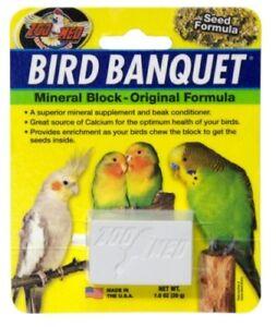 ZOO MED BIRD BANQUET MINERAL BLOCK - ORIGINAL SEED FORMULA - 28G