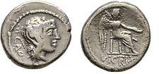 Ancient Rome 89 BC Quinarius Silber M Porcius Cato Winged Victory