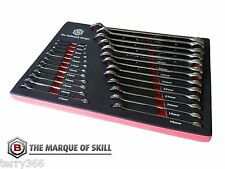 BRITOOL HALLMARK 25 PIECE COMBINATION SPANNER SET 6 - 32MM - TOOL CONTROL TRAY..