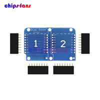 2PCS WeMos D1 Mini NodeMCU Double Socket Dual Base Shield for Arduino ESP8266