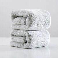 Bathroom Face Towel Absorbent Gray Microfiber Home Adults Washrobe 2pcs 75x35cm