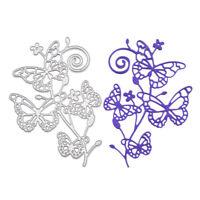 Stanzschablone Schmetterling Liane Rebe Blume Weihnachten Karte Album Deko DIY