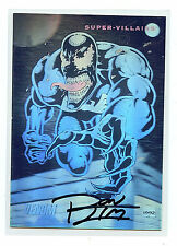 Venom Spider-man Signed Hologram Promo Card Marvel Ron Lim Artist 1991-92 X1