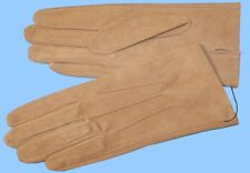NEW MENS size 8.5 or Medium TAN PIG SUEDE LEATHER UNLINED GLOVES shade10555