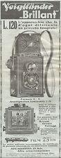 Y2078 Voigtlander - Apparecchio BRILLANT - Pubblicità del 1933 - Old advertising