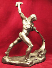 VUCHETICH REFORGE SWORDS ON PLOUGHS 1961 VTG Soviet Russia USSR Statue Figurine