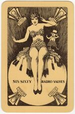 Playing Cards 1 Swap Card - Vintage SIXTY SIX RADIO VALVES Art Deco FLAPPER GIRL