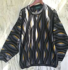 Vintage Tundra Coogi Style Biggie Hip Hop Rap 1990's Colorful Sweater L