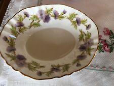 Paragon fine bone China Highland Queen nut dish purple Thistle England