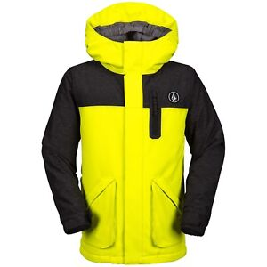 NWT BOYS VOLCOM VS INSULATED SNOWBOARD JACKET $140 12Y/L lime relaxed fit