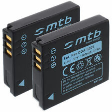 2x Batería para Panasonic CGA-S005E S005E/1B, DMW-BCC12
