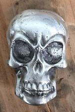 """5 Ozt MK BARZ  """"Angry Skull"""" 3d 999 Fine Silver POURED"""