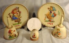 2 Goebel Hummel Annual Plates 2 Bells 1 2001 Special Edition Egg & 1 Medallion