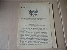 1885 REGIO DECRETO ISTITUZIONE MARSALA SCUOLA TECNICA GOVERNATIVA 2°CLASSE