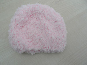 hand knitted baby girl hat size 0- 6 months
