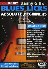 LICK LIBRARY BLUES LICKS FOR ABSOLUTE BEGINNERS Learn to Play Tutor DVD RDR0437