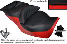 BRIGHT RED & BLACK CUSTOM FITS HONDA GOLDWING GL 1500 88-00 DUAL SEAT COVER