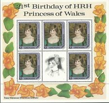Grenada Gr 1982 - Royalty Princess Diana 21st Birthday 3 Sheets - Sc 486,7,9 MNH