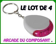 1 LOT 4 PORTE CLES SIFFLEUR SONORE AVEC LUMIERE - BIP 76010-1
