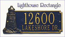 Whitehall Lighthouse Rectangle Address Personalized Plaque Sign Marker 17 Colors