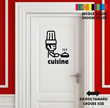 Sticker Vinilo - Cocina - Kitchen-Cuisin -Wall Art Decal Vinyl- Pegatina
