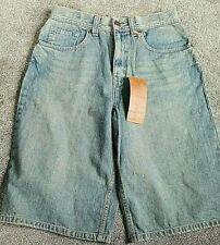New URBAN PIPELINE Boy's Long Length Blue Jean Shorts Size 18 Adj. Waist