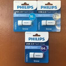 More details for philips 16 gb 32 gb 64 gb snow high speed usb flash drive memory stick pen drive