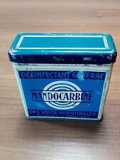Trés belle ancienne boite métallique - Désinfectant général - Mandocarbine