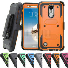 Hybrid Hard Armor Holster Case Kickstand Cover For LG Aristo/Fortune/Phoenix 3