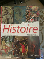 LIVRE HISTOIRE 2 ND SECONDE NATHAN BE