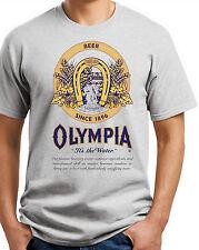 Olympia Beer T-shirt. Ash,Khaki,White,Yellow Small -3X  .Free Ship USA