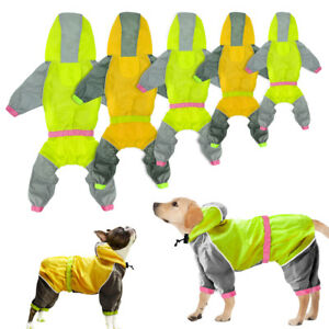 Dog Coat Waterproof Jacket Raincoat Suit Small Large Reflective Yellow Green