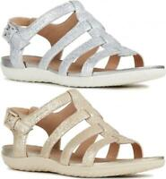 GEOX SAND VEGA Ladies Womens Summer Strappy Buckle Comfort Sandals Shoes Champa