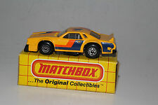 MATCHBOX #MB34 CHEVY PRO STOCKER RACING CAR, YELLOW, NEW IN BOX