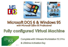 Windows 95 Win 95 Virtual PC, VMware 15.5 Pro fully loaded with Audio & SVGA