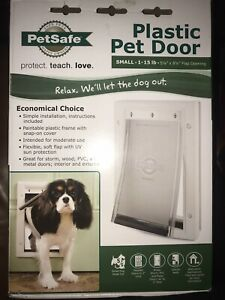 Pet Door Small For Pets Up To 15 lbs Paintable Plastic Snap On Cover