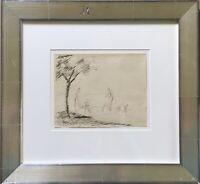 Harold Tronson Bengen 1879 - 1962 Landschaft mit Figuren Akten Expressiv