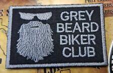 Grey Beard Biker patch