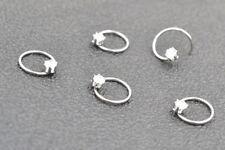 100PCS  CZ Nose Open Hoop Ear Helix Daith Ring Earring Body Piercing Jewelry New