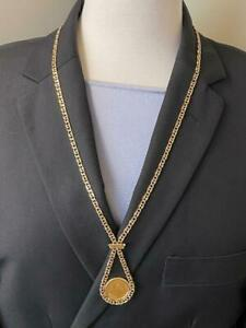 14K Yellow Gold 10 Peso Coin Necklace