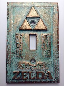 Legend of Zelda Copper/Patina Light Switch Cover (Custom)